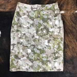 Banana Republic Pencil Skirt Sz 4 Linen Blend